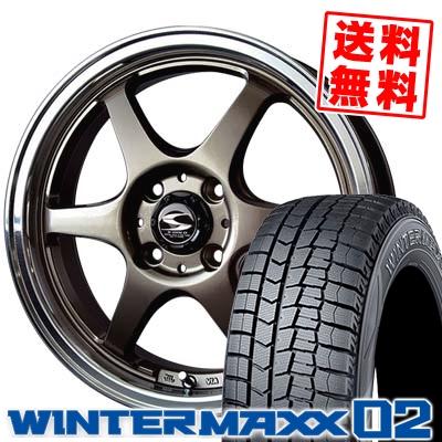 165/60R14 DUNLOP ダンロップ WINTER MAXX 02 WM02 ウインターマックス 02 BADX S-HOLD STOLZ バドックス エスホールド シュトルツ スタッドレスタイヤホイール4本セット