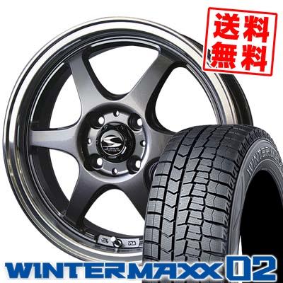 165/55R15 DUNLOP ダンロップ WINTER MAXX 02 WM02 ウインターマックス 02 BADX S-HOLD STOLZ バドックス エスホールド シュトルツ スタッドレスタイヤホイール4本セット