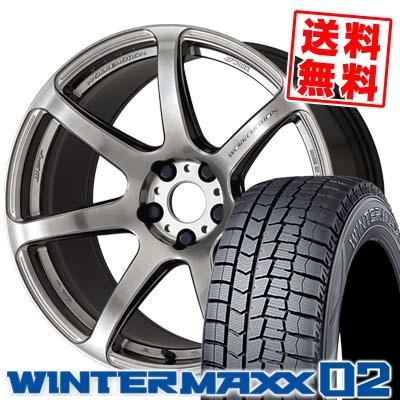235/50R18 DUNLOP ダンロップ WINTER MAXX 02 WM02 ウインターマックス 02 WORK EMOTION T7R ワーク エモーション T7R スタッドレスタイヤホイール4本セット