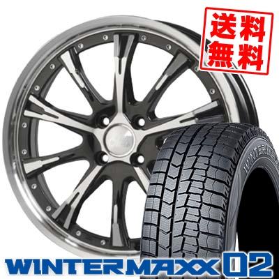 165/55R15 DUNLOP ダンロップ WINTER MAXX 02 WM02 ウインターマックス 02 Cliff Climb TC-02 クリフクライム TC02 スタッドレスタイヤホイール4本セット