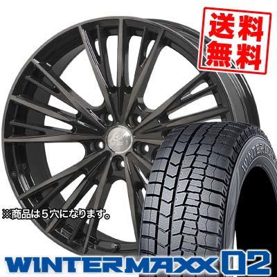 155/65R14 DUNLOP ダンロップ WINTER MAXX 02 WM02 ウインターマックス 02 Cliff Climb TC-04 クリフクライム TC04 スタッドレスタイヤホイール4本セット