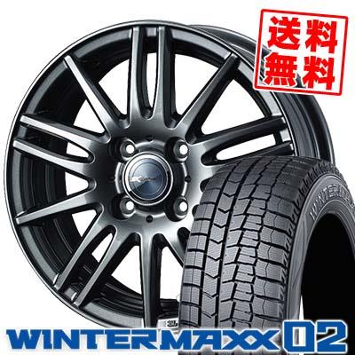 185/60R16 86Q DUNLOP ダンロップ WINTER MAXX 02 WM02 ウインターマックス 02 Zamik Tito ザミック ティート スタッドレスタイヤホイール4本セット