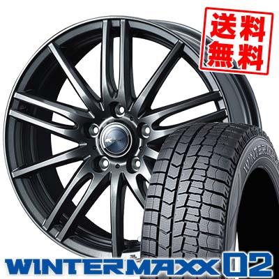 195/65R16 92Q DUNLOP ダンロップ WINTER MAXX 02 WM02 ウインターマックス 02 Zamik Tito ザミック ティート スタッドレスタイヤホイール4本セット