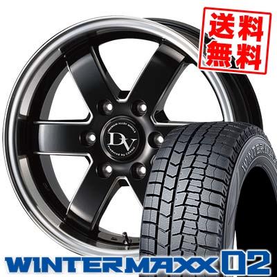 215/65R16 DUNLOP ダンロップ WINTER MAXX 02 WM02 ウインターマックス 02 DIAVOLETTO VALERIO ディアヴォレット ヴァレリ スタッドレスタイヤホイール4本セット