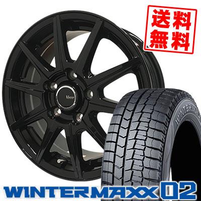 205/60R16 92Q DUNLOP ダンロップ WINTER MAXX 02 WM02 ウインターマックス 02 V-EMOTION BR10 Vエモーション BR10 スタッドレスタイヤホイール4本セット