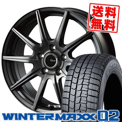 195/70R15 92Q DUNLOP ダンロップ WINTER MAXX 02 WM02 ウインターマックス 02 V-EMOTION GS10 Vエモーション GS10 スタッドレスタイヤホイール4本セット