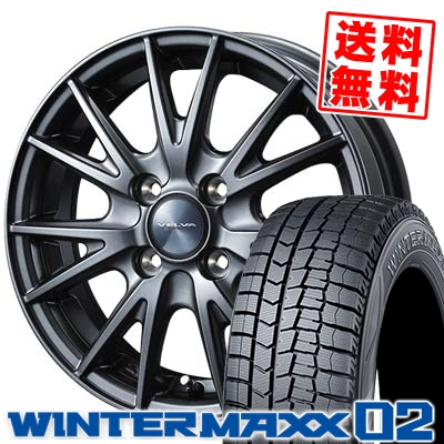 175/70R14 DUNLOP ダンロップ WINTER MAXX 02 WM02 ウインターマックス 02 VELVA SPORT ヴェルヴァ スポルト スタッドレスタイヤホイール4本セット
