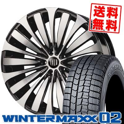 245/45R19 DUNLOP ダンロップ WINTER MAXX 02 WM02 ウインターマックス 02 GARSON D.A.D VELUGA ギャルソン DAD ヴェルーガ(ベルーガ) スタッドレスタイヤホイール4本セット