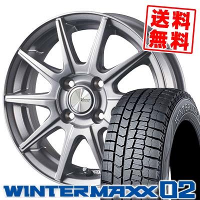 185/55R16 83Q DUNLOP ダンロップ WINTER MAXX 02 WM02 ウインターマックス 02 V-EMOTION SR10 Vエモーション SR10 スタッドレスタイヤホイール4本セット
