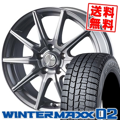 195/65R15 91Q DUNLOP ダンロップ WINTER MAXX 02 WM02 ウインターマックス 02 V-EMOTION SR10 Vエモーション SR10 スタッドレスタイヤホイール4本セット
