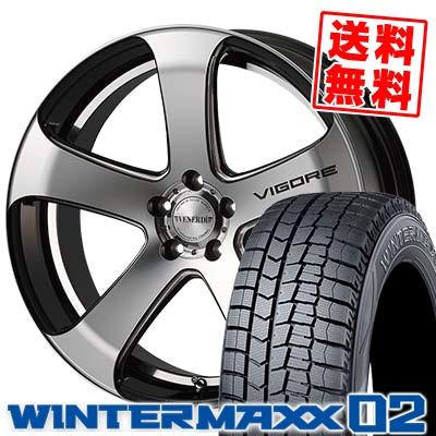 245/45R19 DUNLOP ダンロップ WINTER MAXX 02 WM02 ウインターマックス 02 VENERDi VIGORE ヴェネルディ ヴィゴーレ スタッドレスタイヤホイール4本セット