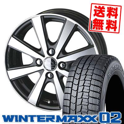 155/65R13 DUNLOP ダンロップ WINTER MAXX 02 WM02 ウインターマックス 02 SMACK VIR スマック VI-R スタッドレスタイヤホイール4本セット