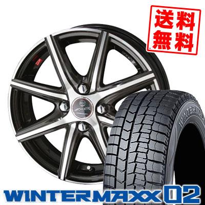 165/60R15 77Q DUNLOP ダンロップ WINTER MAXX 02 WM02 ウインターマックス 02 SMACK PRIME SERIES VANISH スマック プライムシリーズ ヴァニッシュ スタッドレスタイヤホイール4本セット