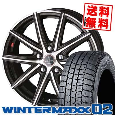 235/45R18 94Q DUNLOP ダンロップ WINTER MAXX 02 WM02 ウインターマックス 02 SMACK PRIME SERIES VANISH スマック プライムシリーズ ヴァニッシュ スタッドレスタイヤホイール4本セット