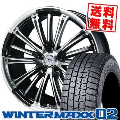245/40R19 DUNLOP ダンロップ WINTER MAXX 02 WM02 ウインターマックス 02 BAHNS TECK VR-01 バーンズテック VR01 スタッドレスタイヤホイール4本セット