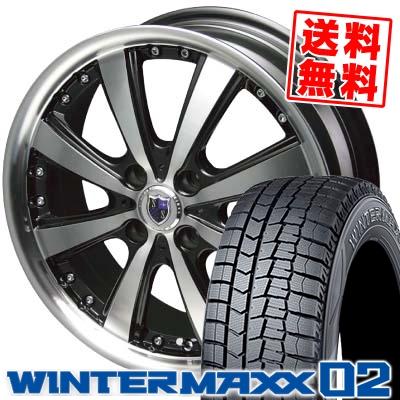 165/55R15 DUNLOP ダンロップ WINTER MAXX 02 WM02 ウインターマックス 02 STEINER VS-5 シュタイナー VS5 スタッドレスタイヤホイール4本セット