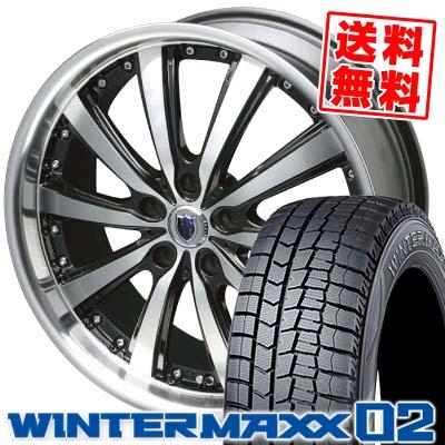 245/40R19 DUNLOP ダンロップ WINTER MAXX 02 WM02 ウインターマックス 02 STEINER VS-5 シュタイナー VS5 スタッドレスタイヤホイール4本セット