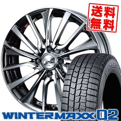 195/50R16 DUNLOP ダンロップ WINTER MAXX 02 WM02 ウインターマックス 02 weds LEONIS VT ウエッズ レオニス VT スタッドレスタイヤホイール4本セット
