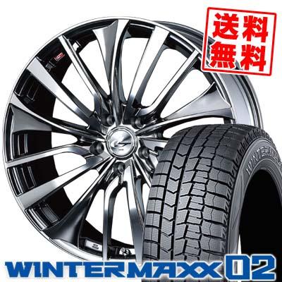 245/45R19 DUNLOP ダンロップ WINTER MAXX 02 WM02 ウインターマックス 02 weds LEONIS VT ウエッズ レオニス VT スタッドレスタイヤホイール4本セット