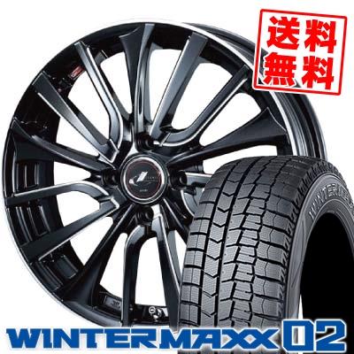 165/60R15 DUNLOP ダンロップ WINTER MAXX 02 WM02 ウインターマックス 02 weds LEONIS VT ウエッズ レオニス VT スタッドレスタイヤホイール4本セット