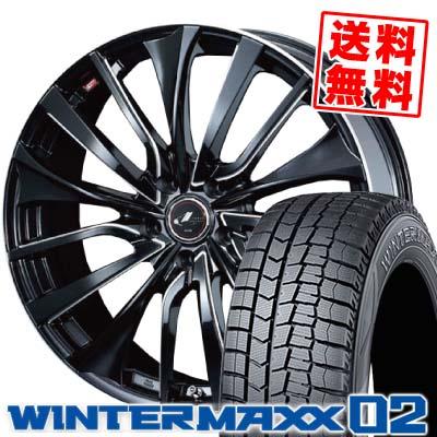 215/50R17 DUNLOP ダンロップ WINTER MAXX 02 WM02 ウインターマックス 02 weds LEONIS VT ウエッズ レオニス VT スタッドレスタイヤホイール4本セット