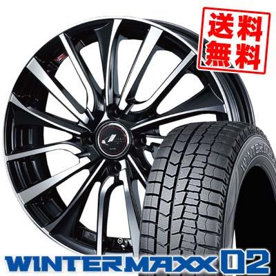 165/70R14 DUNLOP ダンロップ WINTER MAXX 02 WM02 ウインターマックス 02 weds LEONIS VT ウエッズ レオニス VT スタッドレスタイヤホイール4本セット