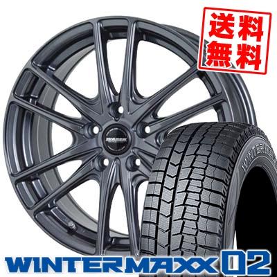 215/60R16 DUNLOP ダンロップ WINTER MAXX 02 WM02 ウインターマックス 02 WAREN W03 ヴァーレン W03 スタッドレスタイヤホイール4本セット