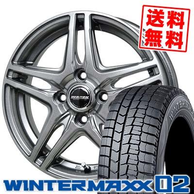 165/65R15 81Q DUNLOP ダンロップ WINTER MAXX 02 WM02 ウインターマックス 02 WAREN W04 ヴァーレン W04 スタッドレスタイヤホイール4本セット