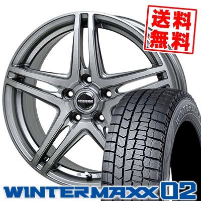 205/65R16 95Q DUNLOP ダンロップ WINTER MAXX 02 WM02 ウインターマックス 02 WAREN W04 ヴァーレン W04 スタッドレスタイヤホイール4本セット