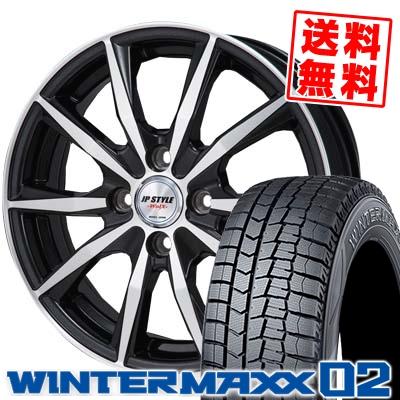 145/80R13 DUNLOP ダンロップ WINTER MAXX 02 WM02 ウインターマックス 02 JP STYLE WOLX JPスタイル ヴォルクス スタッドレスタイヤホイール4本セット