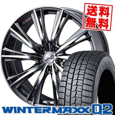 245/45R19 DUNLOP ダンロップ WINTER MAXX 02 WM02 ウインターマックス 02 weds LEONIS WX ウエッズ レオニス WX スタッドレスタイヤホイール4本セット