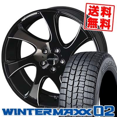 245/40R19 DUNLOP ダンロップ WINTER MAXX 02 WM02 ウインターマックス 02 AME SHALLEN WX-monoblock AME シャレン WX モノブロック スタッドレスタイヤホイール4本セット