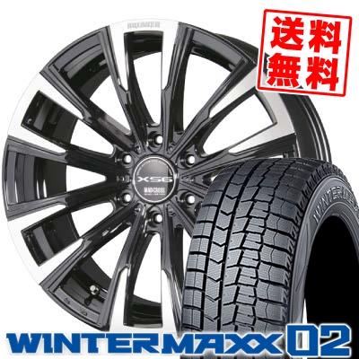 225/50R18 DUNLOP ダンロップ WINTER MAXX 02 WM02 ウインターマックス 02 MAD CROSS BREAKER XS6 マッドクロス ブレイカー XS6 スタッドレスタイヤホイール4本セット