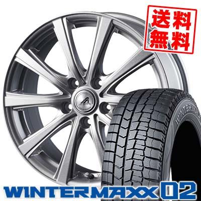 215/50R17 DUNLOP ダンロップ WINTER MAXX 02 WM02 ウインターマックス 02 AZ sports YL-10 AZスポーツ YL-10 スタッドレスタイヤホイール4本セット
