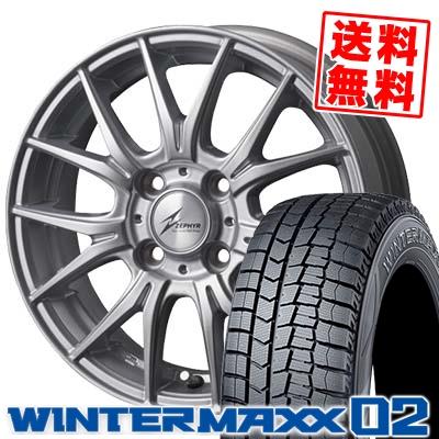 175/65R14 DUNLOP ダンロップ WINTER MAXX 02 WM02 ウインターマックス 02 ZEPHYR M2 ゼファー M2 スタッドレスタイヤホイール4本セット