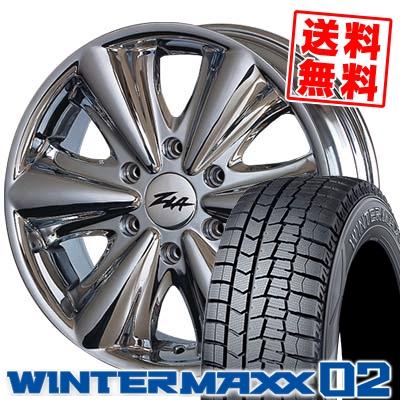 215/65R16 DUNLOP ダンロップ WINTER MAXX 02 WM02 ウインターマックス 02 ZLA FATBOY ジラ ファットボーイ スタッドレスタイヤホイール4本セット