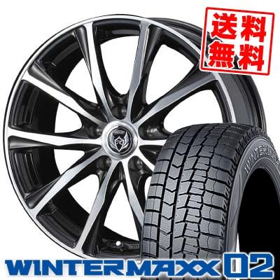 195/70R15 DUNLOP ダンロップ WINTER MAXX 02 WM02 ウインターマックス 02 weds RIZLEY ZM ウェッズ ライツレー ゼットエム スタッドレスタイヤホイール4本セット