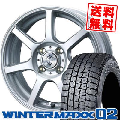 155/65R13 DUNLOP ダンロップ WINTER MAXX 02 WM02 ウインターマックス 02 Treffer ZR トレファーZR スタッドレスタイヤホイール4本セット