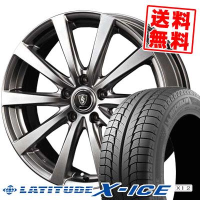 ラティチュード エックスアイス XI2 215/70R16 100T ユーロスピード G10 メタリックグレー スタッドレスタイヤホイール 4本 セット