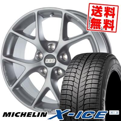 225/60R16 102H MICHELIN ミシュラン X-ICE XI3 エックスアイス XI3 BBS SR スタッドレスタイヤホイール4本セット【 for BMW 】【取付対象】