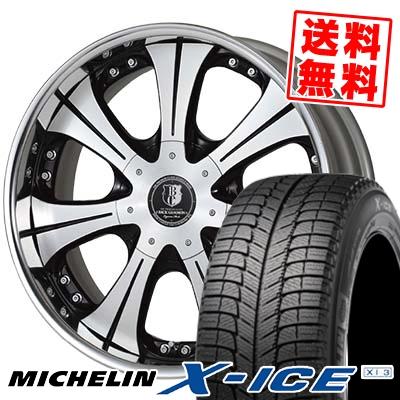 225/50R18 MICHELIN ミシュラン X-ICE XI3 エックスアイス XI-3 BACK GAMMON LS7 バックギャモン LS7 スタッドレスタイヤホイール4本セット