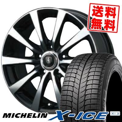 215/70R15 MICHELIN ミシュラン X-ICE XI3 エックスアイス XI-3 EuroSpeed BL10 ユーロスピード BL10 スタッドレスタイヤホイール4本セット