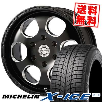 235/60R16 MICHELIN ミシュラン X-ICE XI3 エックスアイス XI-3 Blood stock one piece ブラッドストック 1ピース スタッドレスタイヤホイール4本セット