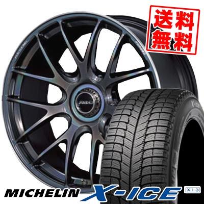 245/45R19 MICHELIN ミシュラン X-ICE XI3 エックスアイス XI-3 RAYS VOLKRACING G27 レイズ ボルクレーシング G27 スタッドレスタイヤホイール4本セット