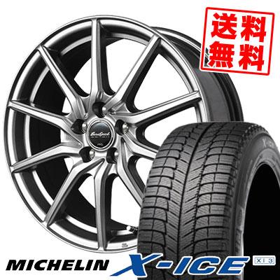215/55R18 99H XL MICHELIN ミシュラン X-ICE XI3 エックスアイス XI-3 EuroSpeed G810 ユーロスピード G810 スタッドレスタイヤホイール4本セット
