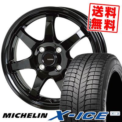155/65R13 73T MICHELIN ミシュラン X-ICE XI3 エックスアイス XI-3 G.speed G-03 Gスピード G-03 スタッドレスタイヤホイール4本セット