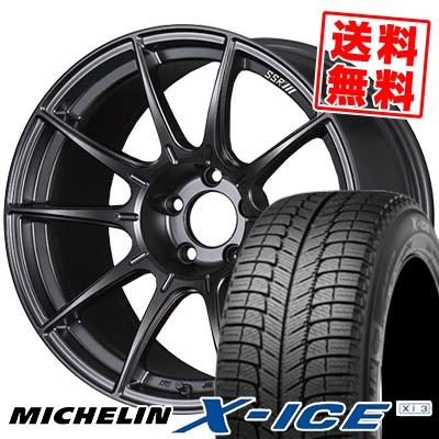 245/50R18 MICHELIN ミシュラン X-ICE XI3 エックスアイス XI-3 SSR GT X01 SSR GT X01 スタッドレスタイヤホイール4本セット【取付対象】
