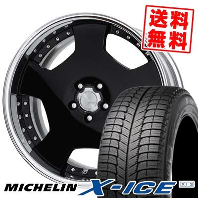 245/40R18 MICHELIN ミシュラン X-ICE XI3 エックスアイス XI-3 WORK LANVEC LD1 ワーク ランベック エルディーワン スタッドレスタイヤホイール4本セット