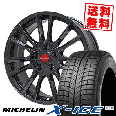 205/70R15 MICHELIN ミシュラン X-ICE XI3 エックスアイス XI-3 LeyBahn GBX レイバーン GBX スタッドレスタイヤホイール4本セット
