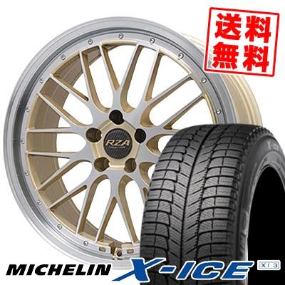 245/40R18 MICHELIN ミシュラン X-ICE XI3 エックスアイス XI-3 Leycross REZERVA レイクロス レゼルヴァ スタッドレスタイヤホイール4本セット